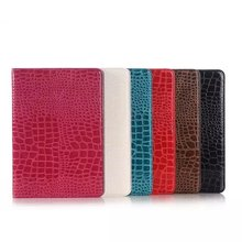 Luxury Crocodile Pattern Leather Case for Samsung Galaxy Tab A 9.7 T550 T555 case for Samsung Tab A P550 P555 + Stylus + Film)