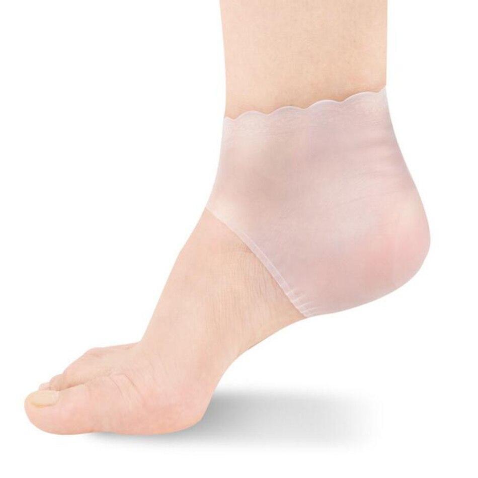 2Pcs/pair New Silicone Moisturizing Gel Heel Socks Anti-slip Maintenance Cracked Foot Skin Care Protectors Foot Care