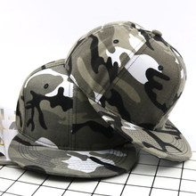 Camouflage Cap For Army Captain Mens Adjustable Fatigue Top Cap Hat For Boys Outdoors Casual Erkek Sapka(China)