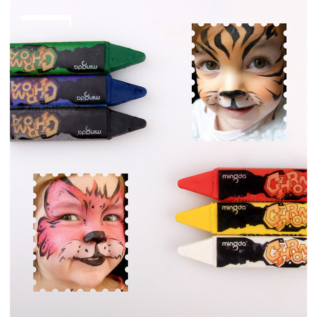 6 Colors Face Painting Pencils Splicing Structure Face Paint Crayon Christmas Body Painting Pen Stick For Children Party Makeup Skin Care