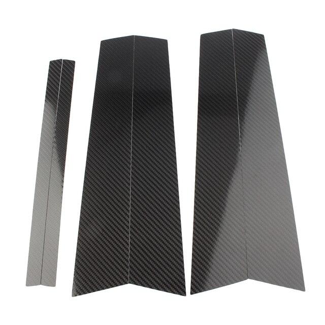 Cubierta embellecedora de moldura B para ventana de puerta de coche para BMW E84 X1 2011 2012 2013 2014 2015 Estilo de fibra de carbono