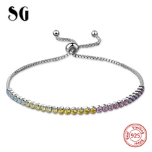 New arrival 100% 925 Sterling Silver 18cm Luxury Chain with CZ charms beads Authentic Bracelet Fashion Jewelry making for gifts