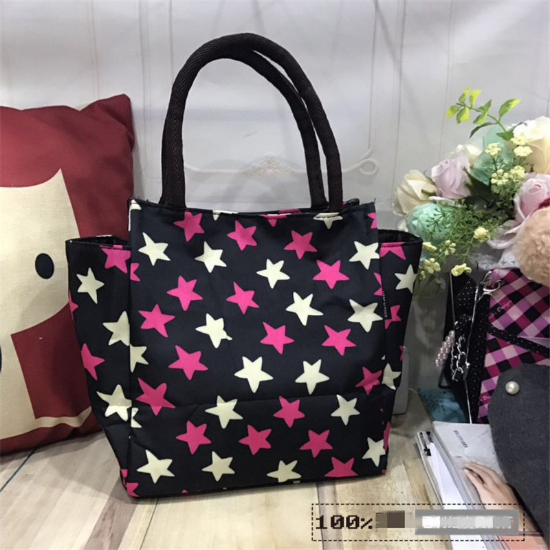 1pc New Fresh Insulation Cold Bales Thermal Lunch Bag Waterproof Convenient Leisure Bag Canvas Lunch Box, Handbag, Mother Bag