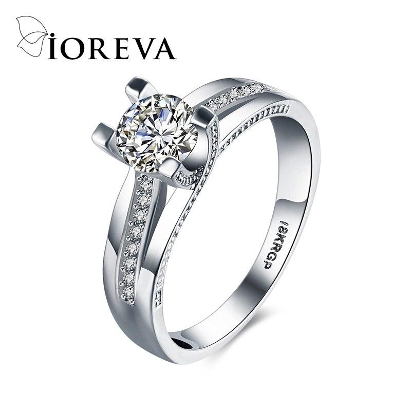 wedding font b rings b font for women platinum plating fashion engagement font b ring b