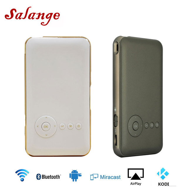 Flash Promo Salange T06 Mini Pocket Projector Andriod 7.1 WIFI Blutooth Smart Portable Proyector Built-in 5000mah Battery HDMI IN Miracast