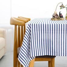 цена на Stripe Waterproof Table Cloth Modern Home Kitchen Hotel Decorative Rectangular Tablecloths Simple Dustproof Dining Table Cover