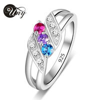UNY Rings 925 Silver Custom Engrave Ring Family Heirloom Anniversary Love Mother Birthstone Ring Personalized Valentine Rings