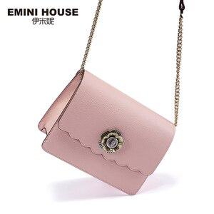 Image 3 - EMINI HOUSE Camellia Crossbody กระเป๋าผู้หญิงกระเป๋าถือหรูผู้หญิงออกแบบกระเป๋าแยกหนังกระเป๋าสะพาย Messenger กระเป๋า