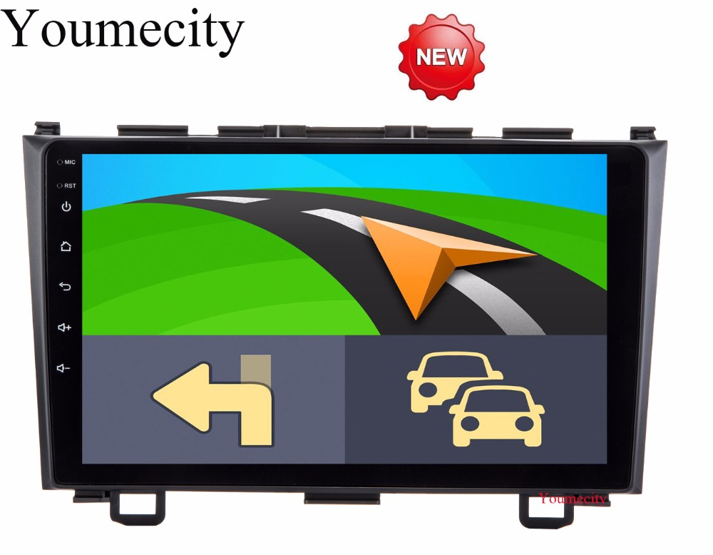 Youmecity Car dvd player GPS Navi For Honda CRV 2007-2011 IPS Capacitive screen 1024 *600 +wifi+BT+SWC+RDS+Android 8.1+2G RAM 7 android 4 2 capacitive screen car dvd player w ips gps rds wifi radio aux bt for audi a3
