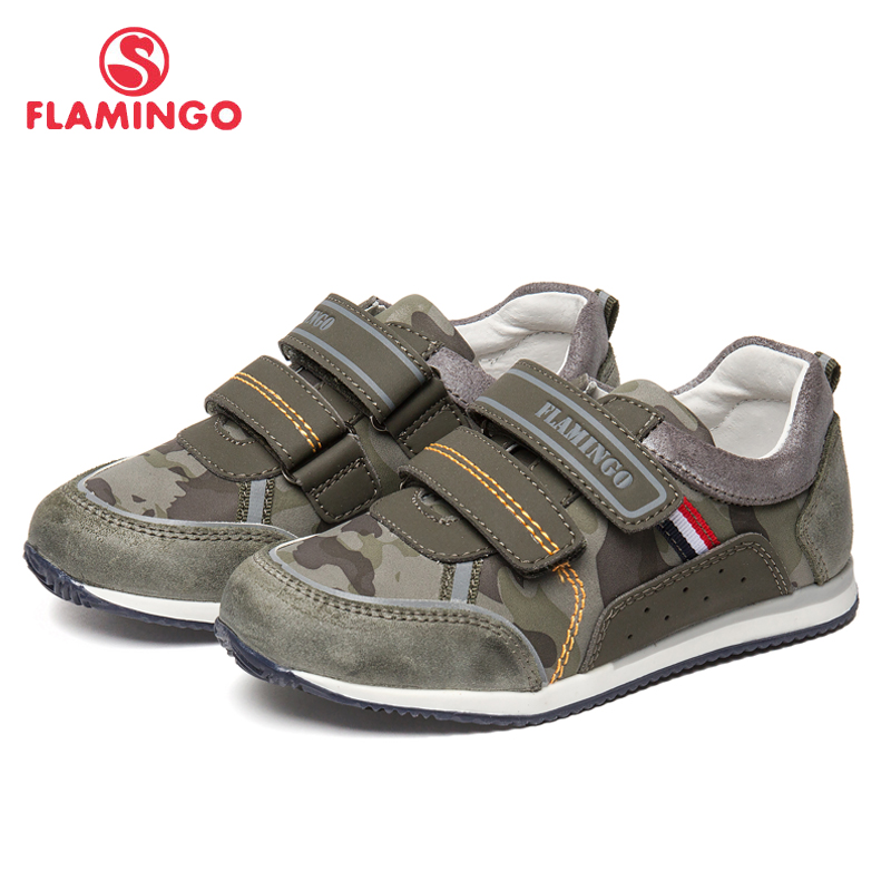FLAMINGO New Children Shoes Spring&Summer Breathable Leather Hook& Loop Little Size 28-33 Blue Kids Shoes for Boy 91P-XY-1168 women high heel shoes sexy lace spring quality footwear fashion heeled open toe ladies new pumps shoes size 33 43 p22426