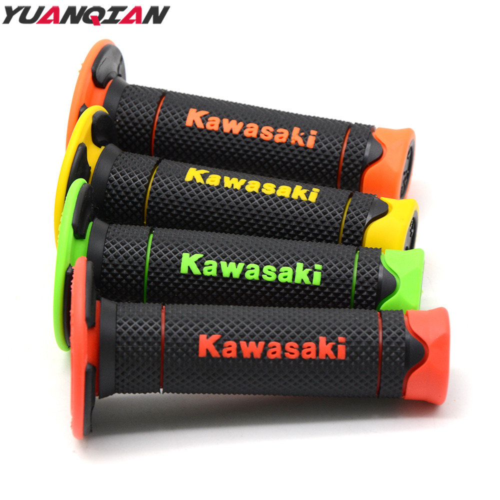 Motorcycle Handlebar Grips Motocross Hand Grip Scooter For Kawasaki KX KDX 450 420 400 250 220 200 175 125 80 for Kawasaki logo gy6 scooter driven wheel high performance scooterl drivern scooter fit for 125cc 150cc engine chinese all brand motocross lh 115
