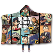 Fans Made Children Hoody Blanket Unisex for Adult Grand Theft Auto Sleeveless Anime Cosplay Costume Hooded Blankets Winter Coat