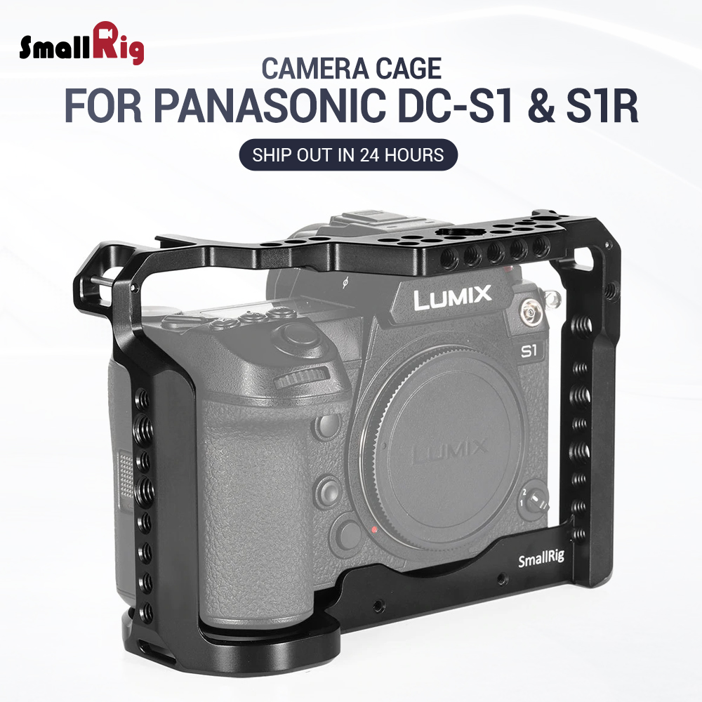 SmallRig DSLR S1 Camera Cage for Panasonic Lumix DC S1 & S1R Feature W/ Cold Shoe Mount For Micrphone Flash Light Attach 2345-in Camera Cage from Consumer Electronics