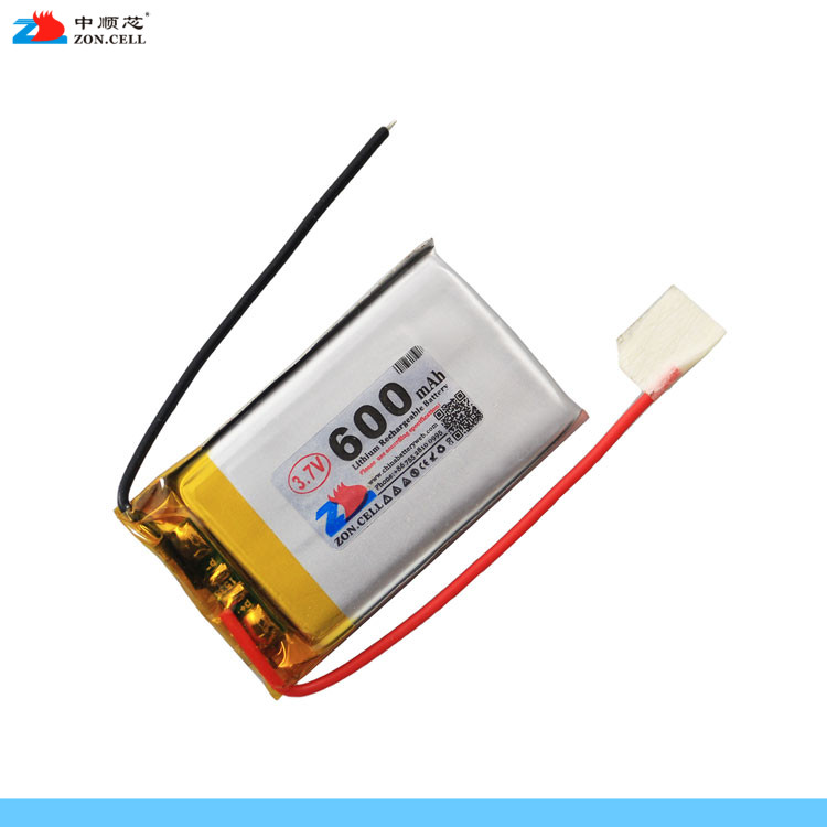 In 3.7V 600mAh <font><b>402540</b></font> polymer lithium battery 500mAh 452540 point reading machine business pen Rechargeable Li-ion Cell image
