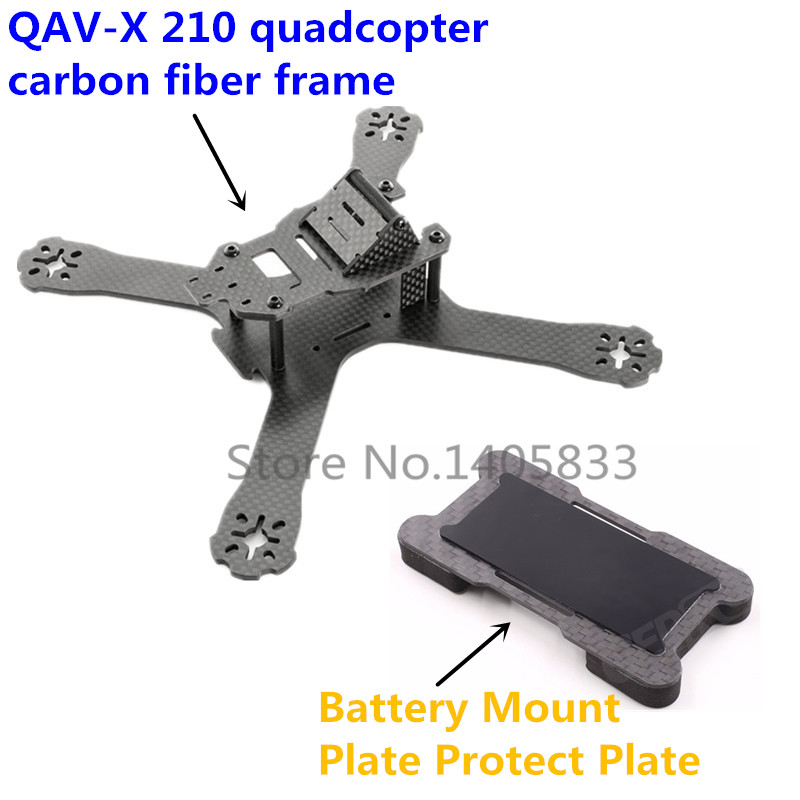 FPV QAV-X 214mm cross 3mm/4mm Arms RC quadcopter QAV-R 210 carbon fiber frame & Battery Mount Plate Protect Plate drone with camera rc plane qav 250 carbon frame f3 flight controller emax rs2205 2300kv motor fiber mini quadcopter