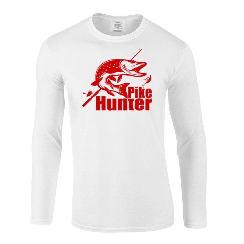 oval PIKE HUNTER pike fishing spinning carp hunter fly fishing fan TSHIRT S-XXL