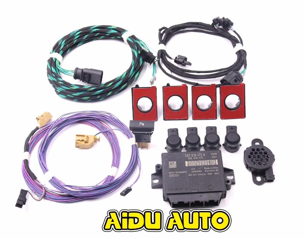 Park Pilot Front 4K Update 8K Sensor With Visible OPS Parking FOR PQ Skoda Octavia MK2 park pilot parking front and rear 8 sensors update 8k pdc ops for skoda mqb octavia