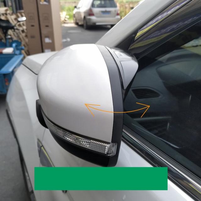 lsrtw2017 acrylic car rearview rain shield for toyota verso 2009 2010 2011  2012 2013 2014 2015 2016 2017 2018 sportvan