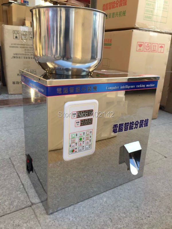 2-200g New Design Hot sell Granule weighing and filling machine,powder filler  stainless steel granule weighing filling machine with feeder