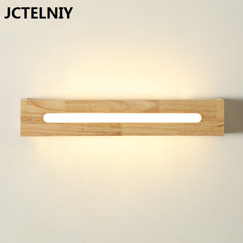 Modern brief solid wood led wall lamp bathroom mirror light wall ofhead japanese style lamps
