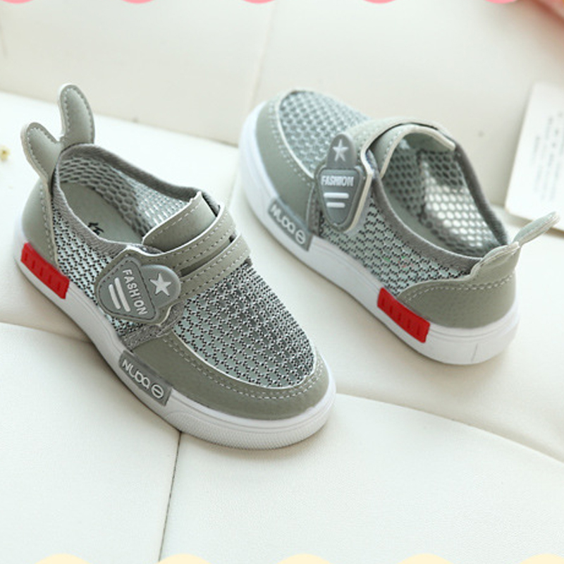 Shoes Kid Fashion Cute Girls Flats Breathable Air Mesh Baby Girls Sport Shoes With Ear Children Sneakers For Toddler Boys 2019 in Sneakers from Mother Kids