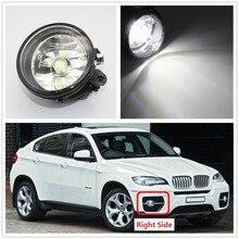 Правая сторона светодио дный автомобиль свет для BMW X6 E71 E72 2012 2013 2014 2015 Автомобиль-Стайлинг спереди светодио дный противотуманной фары противотуманные света с лампой