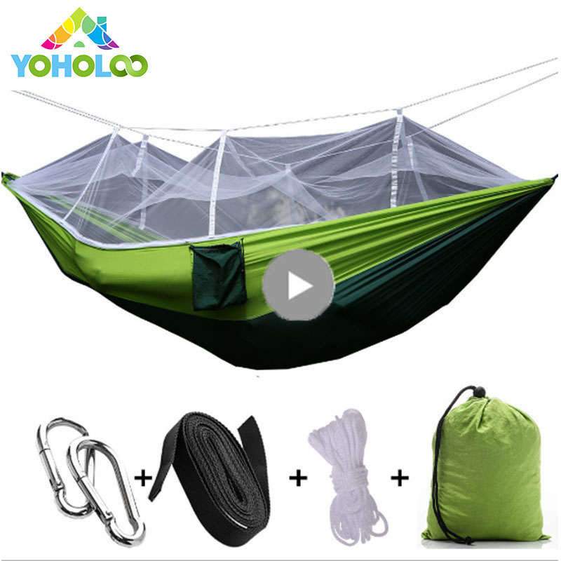 Two-person Ultralight Parachute Hammock Mosquito Net Double Person drop-shipping Outdoor Solid Color Furniture Hammock Chair new ultralight parachute hammock hunting mosquito net double person drop shipping outdoor furniture hammock