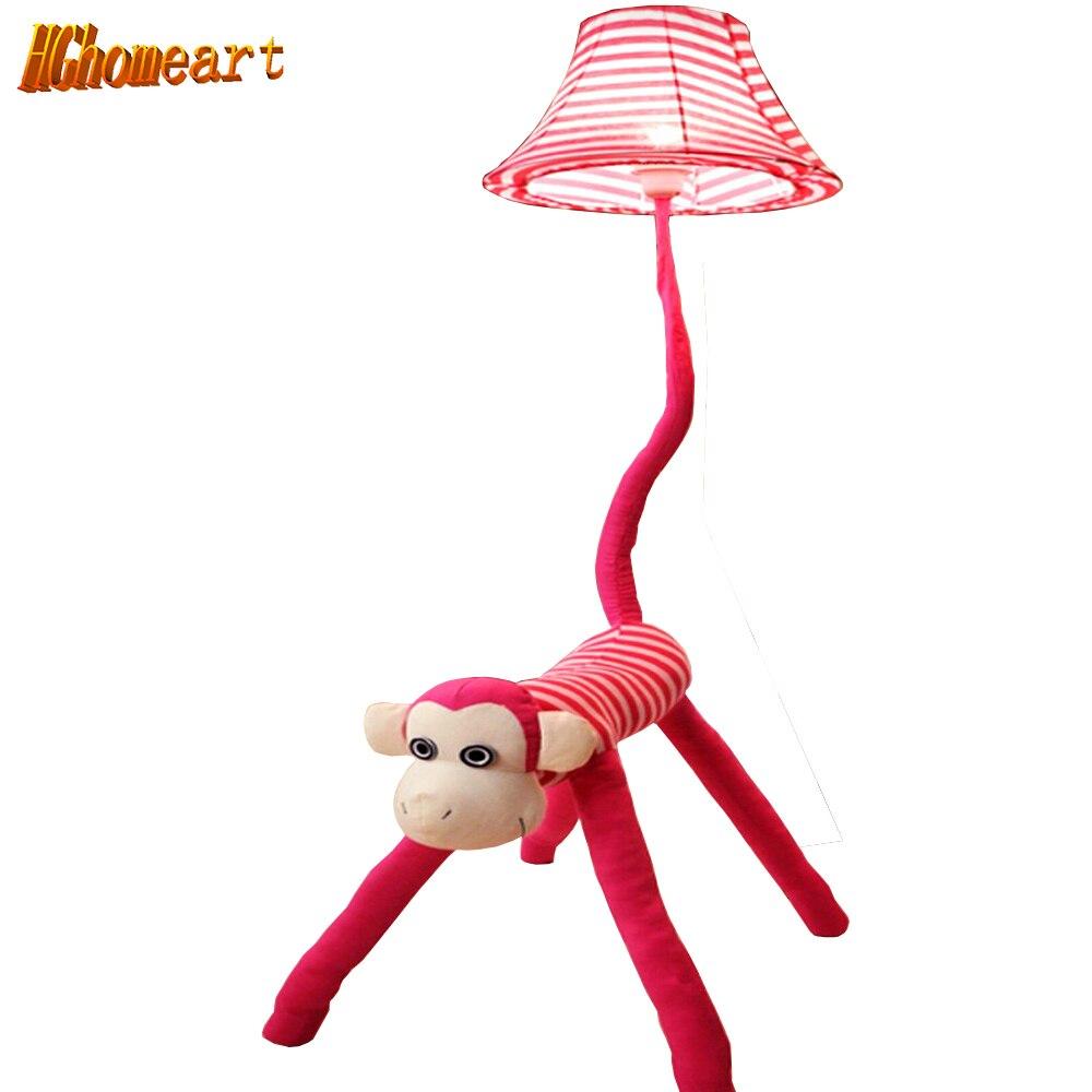 Cartoon Kids Floor Lamp 110V/220V E27 Cute Monkey Led Wire Floor Lamps  Exotic Decorative Floor Lamps Pink Bedside Lamp