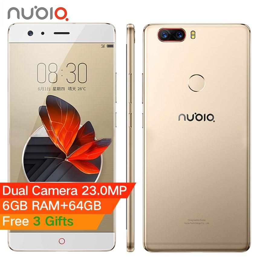 Original Nubia Z17 5,5 zoll Randlos Handy 6 GB RAM 64 GB Snapdragon 835 Octa-core Android 7.1 23.0MP 12.0MP Dual kamera