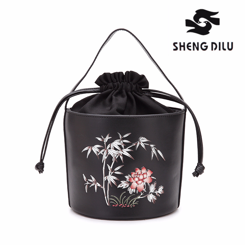Luxury Handbag Women Bag Designer Brand Shoulder Bag Female Drawstring Bucket Bag Genuine Leather Crossbody Shoulder Bag Sac gorden yi de luxury brand designer bucket bag women leather wide strap shoulder bag handbag large capacity crossbody bag color 8
