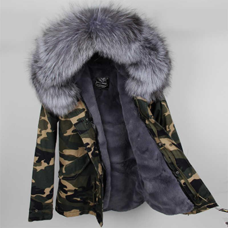 2019 neue Parkas Große echt waschbären pelz mantel mit kapuze parkas outwear 2 in 1 abnehmbare futter winter jacke marke stil