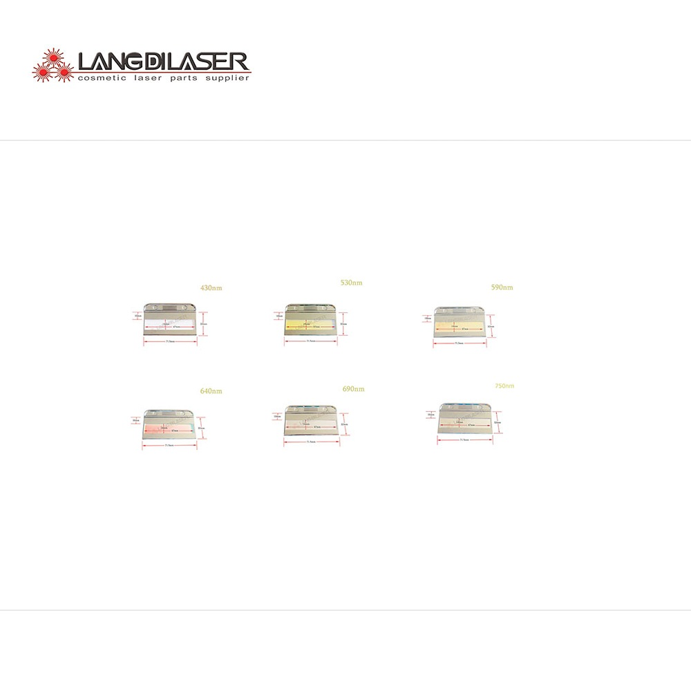 IPL laser filter include 430 530 590 640 690 750 1200nm
