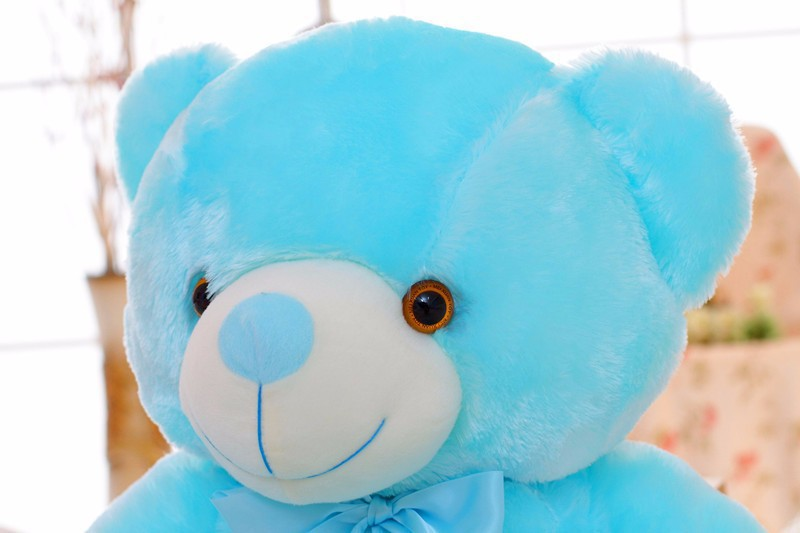 Led giant plush teddy bear glow in dark flashing toy colorful led giant plush teddy bear glow in dark flashing toy colorful glowing stuffed animal doll birthdaychristmas gift 75cm50cm in stuffed plush animals from thecheapjerseys Gallery