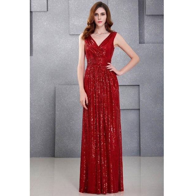 Online-Shop Luxury Gold Silber Lange Pailletten Abendkleid Rosa ...