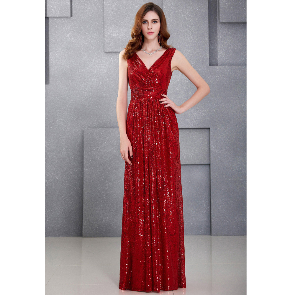 Aliexpress.com : Buy Luxury Gold Silver Long Sequin Evening Dress ...