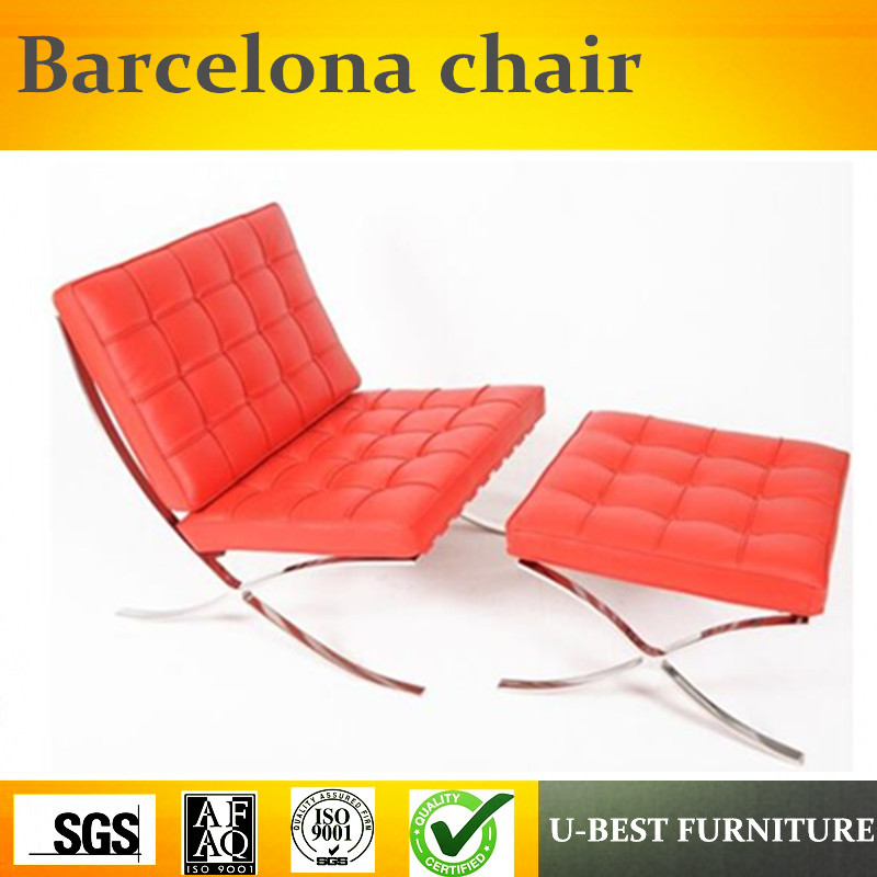 U Best Hotel Used Lounge Leather Replica Knoll Chair Barcelona With