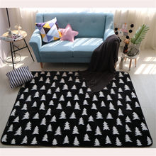 New Nordic Style Decor Flannel Velvet Geometric Big Mat Living Room Floor Children Crawling Play Mats Tea Table Carpets Are Rugs(China)