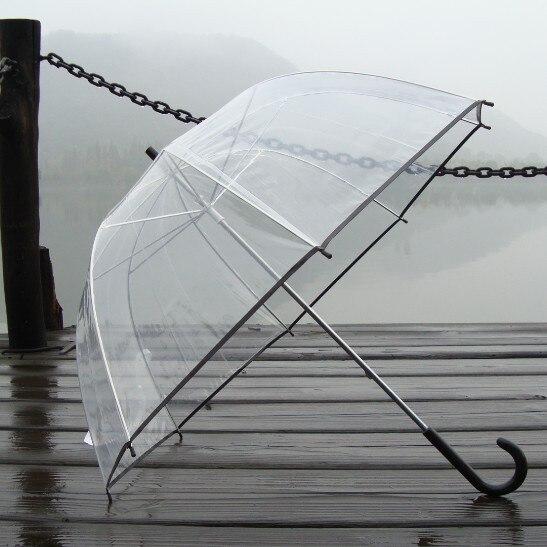 Engrosamiento paraguas bordeado paraguas transparente burbuja paraguas de mango largo paraguas de la seta paraguas apollo paraguas