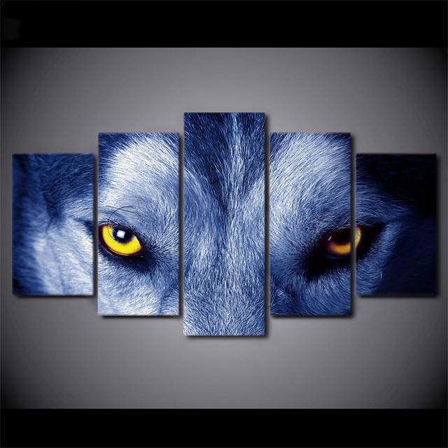 aliexpress : poster wand bild 5 panel wolf augen leinwand, Hause deko
