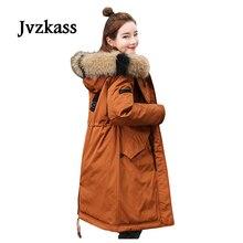Jvzkass 2018 new Winter padded cotton female long knee coat down Korean women tide Z62