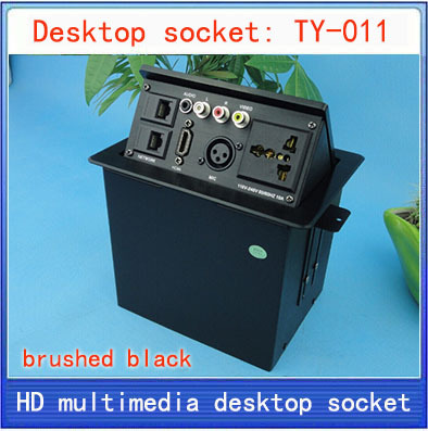 NEW Desktop socket / hidden multimedia information box outlet / HD HDMI network RJ45 video Audio 3 pin XLR desktop socket TY-011 new l0211 multimedia desktop socket multifunctional desktop socket outlet three plug socket network meeting