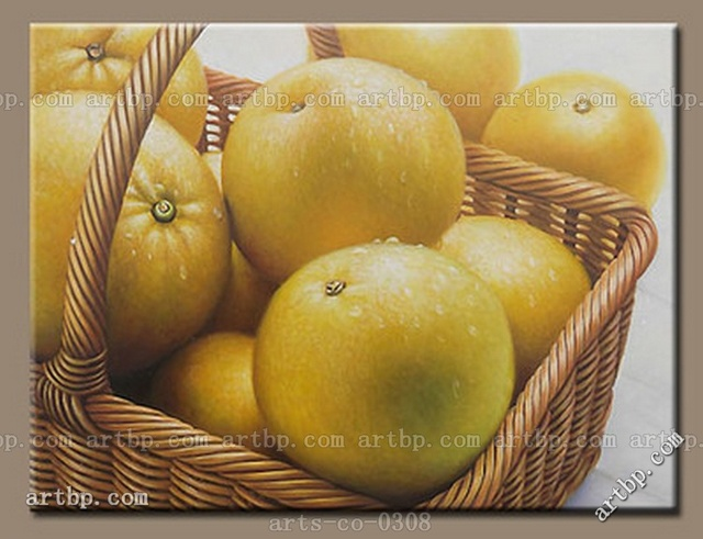 Original Hand Painted Oil Painting Canvas Art Food Orange Apple ...