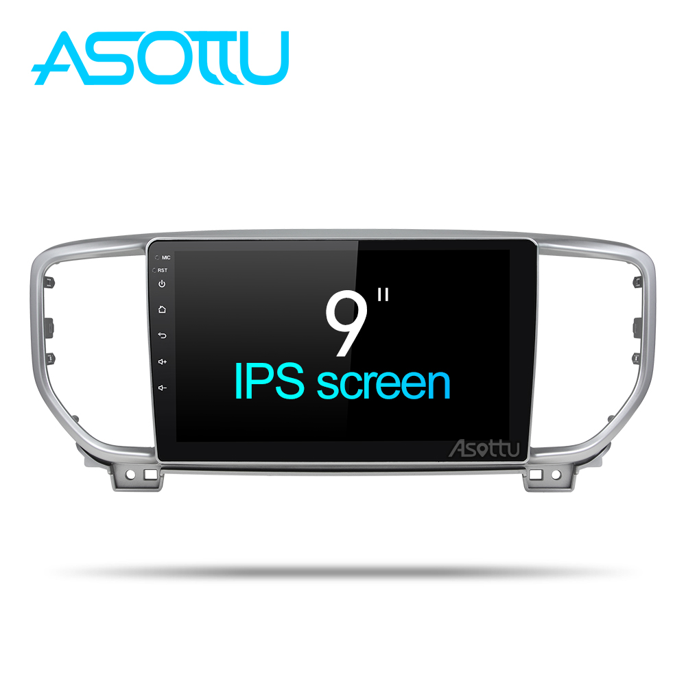 Asottu IPS android Octa Core car dvd player for KIA sportage 2018 2019 KX5 gps navigation