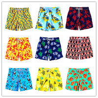 2019 Brand BREVILE PULLQUIN Beach Board Shorts Men Turtle Print Shorts For Beachwear Boardshorts 100% Quick Dry Sexy Swimwear