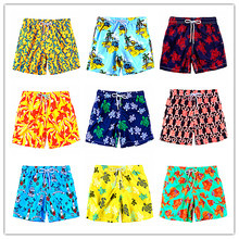 Calvn PuLL 2019 BREVILE PULLQUIN Beach Board Shorts Men Turtle Print For Beachwear