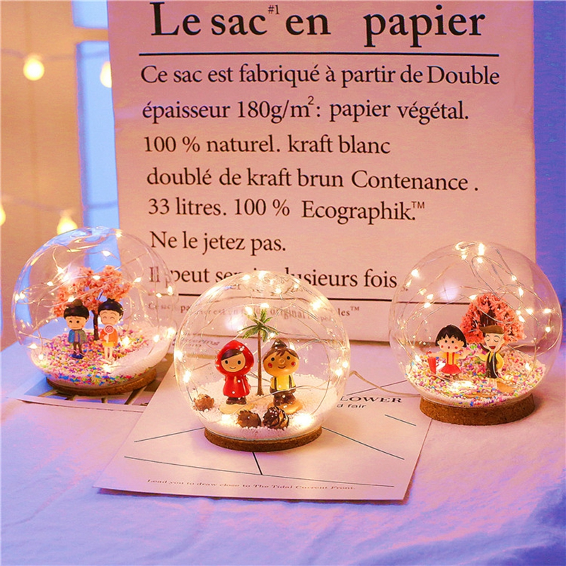 Creative LED Crystal Ball Design Table Lamp Room Decor Bedside Night Light For Girls Baby New Year Christmas Birthday Gift (3)
