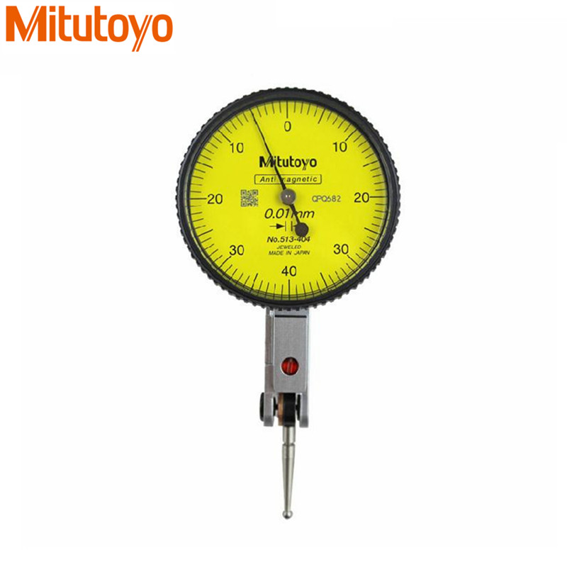 Mitutoyo Dial Indicator 0-0.8mm/ 0.01mm gauge 513-404 Dial Test Indicator Dial Gauge Indicator Paquimetro Measure Tools guanglu dial indicator 0 0 8mm 0 01mm dial test indicator dial test gauge measurement instrument measure tools