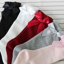 20794d82bb3 ISHOWTIENDA для половины лук Носки Детские наколенники высокие Мягкий  хлопок детские носки для девочек зимние нескользящие