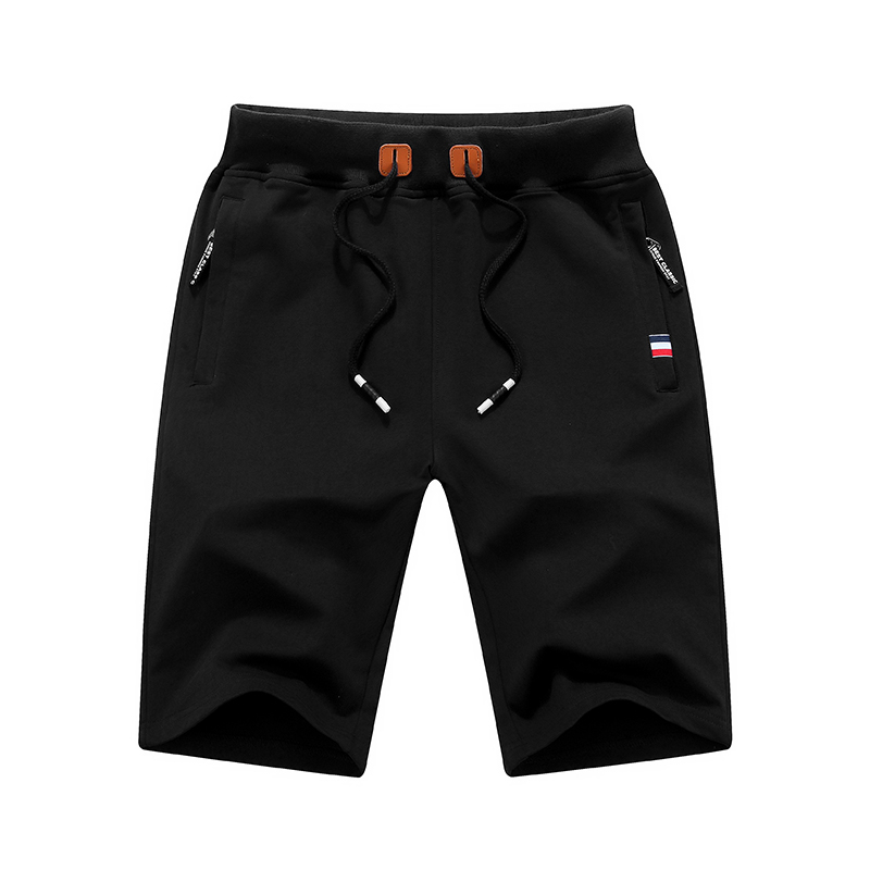 Мужские однотонные пляжные шорты, хлопковые повседневные шорты, мужские шорты, брендовая одежда, Размер 4XL, лето 2019
