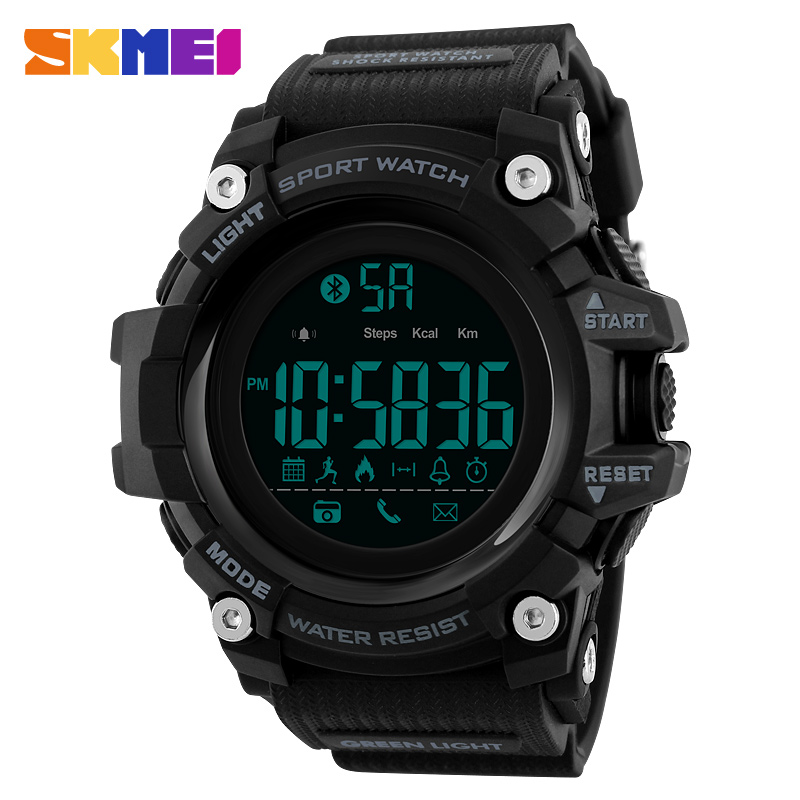 SKMEI Men Smart Sports Watch Pedometer Calorie Chronograph Fashion Outdoor Sports Watch 50 Meter Waterproof Digital Watch 1385 braun chronograph sports watch